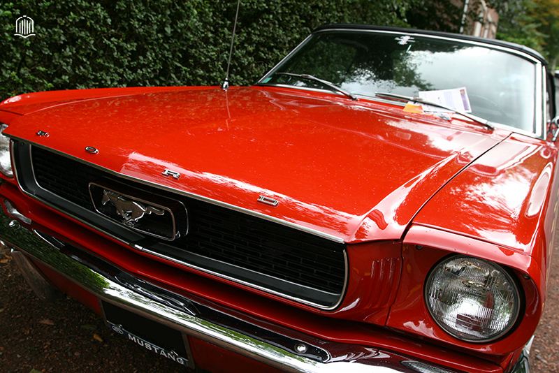 Calandre ford mustang Rouge